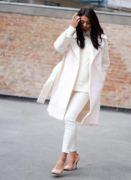 Total white look το χειμώνα: τα do και τα don'ts