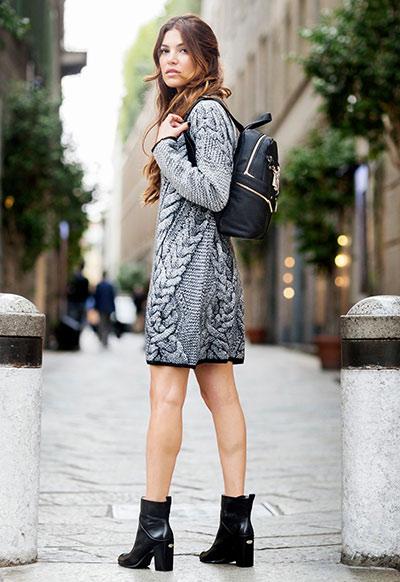 f30b82a35b6 Casual street style εμφανίσεις με φορέματα καθημερινά χειμωνιάτικα