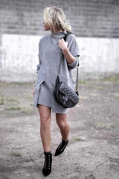 cade2683d7a0 Casual street style εμφανίσεις με φορέματα καθημερινά χειμωνιάτικα