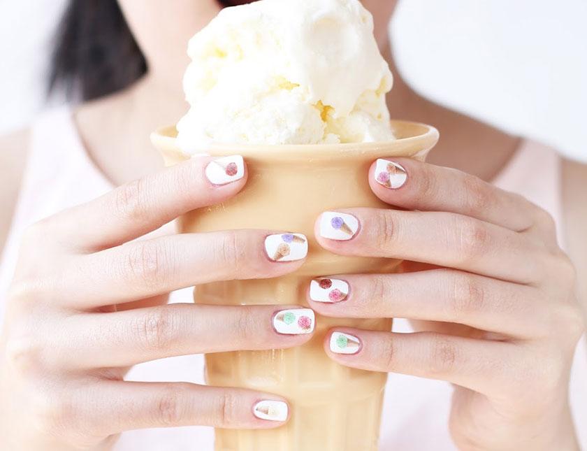 Νύχια παγωτό: τα πιο λαχταριστά σχέδια μανικιούρ