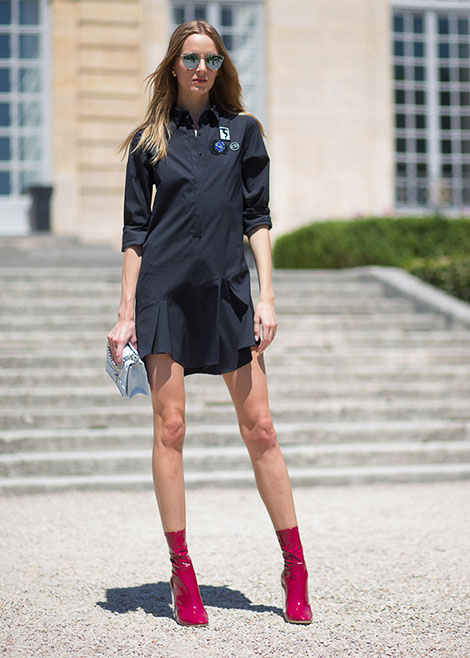 3d194f9badf4 Shirt dress συνδυασμοί  casual στυλ με φόρεμα πουκάμισο