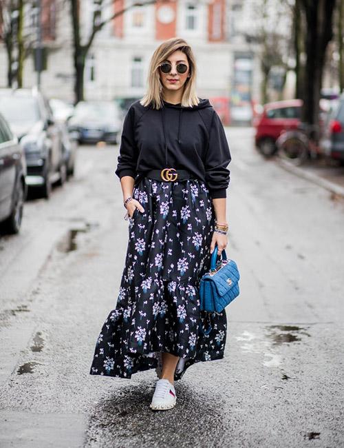 e82d920b1739 Πως να φορέσω μακριά φούστα το χειμώνα  όλα τα style tips